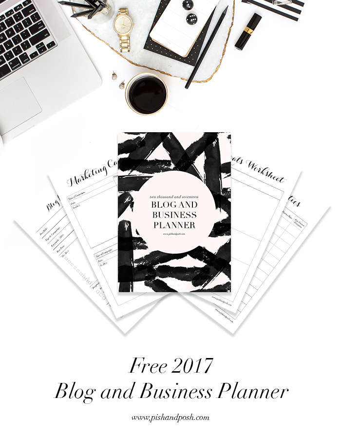free 2017 blog and business planner posh pixels co